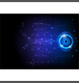 blue futuristic game circuit technology vector image vector image