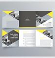 brochure design 1694 vector image vector image