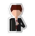 businessman with smartphone character isolated vector image vector image