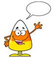 candy corn cartoon speech bubble vector image vector image
