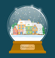 card with christmas ball winter holiday vector image