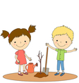 children plant 2 vector image
