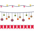 christmas banners garlands and decoration vector image vector image