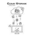 cloud storage more file was downloaded from vector image
