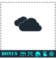 Clouds icon flat vector image vector image