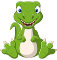 Cute baby dinosaur cartoon vector image vector image
