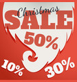 design template christmas sale text for vector image