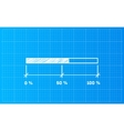 Digiral download bar on a blueprint background vector image vector image
