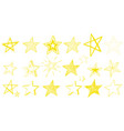 doodle design for yellow stars vector image vector image