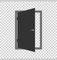door icon exit icon open door vector image