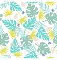 Exotic leaves pattern vector image vector image