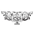 Floral motif have two angles in the design vector image
