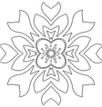 Floral ornament Coloring page vector image vector image