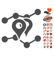 geo markers trends icon with lovely bonus vector image vector image