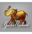 golden elephant decorative 3d vector image vector image