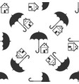 house with umbrella real estate insurance vector image vector image