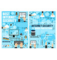 internet security and data protection technology vector image