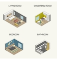 Isometric rooms vector image vector image