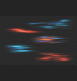 light stripes red and blue shine neon vector image