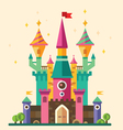 Magical fabulous cartoon castle vector image