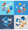 Mail Isometric Set vector image vector image