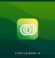 media icon application design template vector image