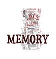 memory and your health text background word cloud vector image vector image