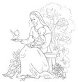 mother mary with baby jesus coloring page vector image vector image