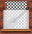 musical pattern brick wall vector image vector image
