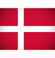 national flag denmark vector image vector image