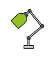 office desk lamp isolated icon vector image vector image