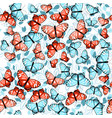 pattern with butterflies and leaves 1 vector image vector image
