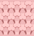 penis seamless pattern body part texture male vector image