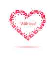 Pink heart made of the handprints vector image vector image