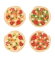 Pizza with tomato and mushrooms sketch for your vector image vector image