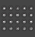 player navigation buttons set vector image