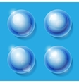 Realistic shiny transparent glass spheres set vector image