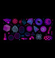retro futuristic shapes abstract geometric vector image