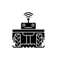 robotics in agriculture black glyph icon vector image vector image