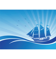 Sail ship background3 vector image vector image