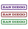 san diego watermark stamp vector image