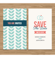 save date card pattern green 01 vector image vector image
