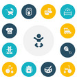 set of 13 editable infant icons includes symbols vector image vector image