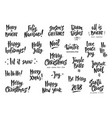 set of holiday greeting quotes and wishes hand vector image vector image