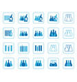 set of of chemical lab icons vector image