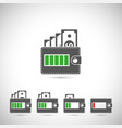 set of wallet icons vector image vector image