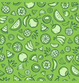 sketch mixed tropical fruits seamless summer vector image vector image