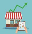 store growing sales vector image