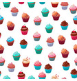 sweet food chocolate creamy cupcake set isolated vector image vector image