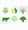 symbol of dairy products natural product organic vector image vector image